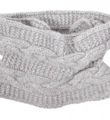 Lukket strikket halstørklæde