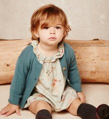 BASIC BABY CARDIGAN_EMERALD