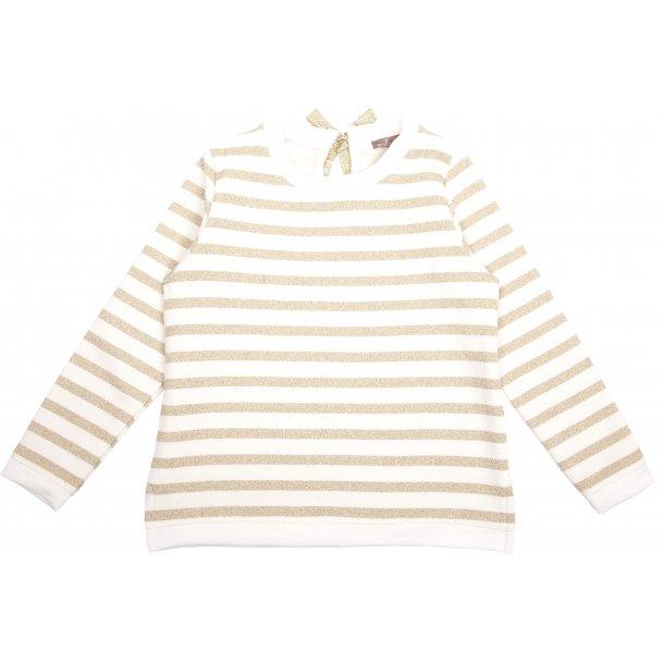 Sweatshirt m/ striber_guld