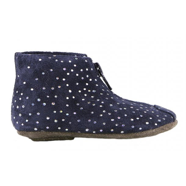 Mini Zip_Polka Dots_Navy